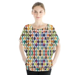 Retro Pattern Abstract Blouse
