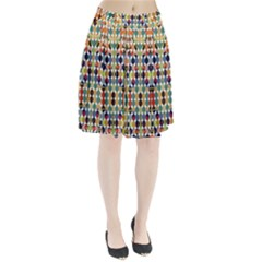 Retro Pattern Abstract Pleated Skirt