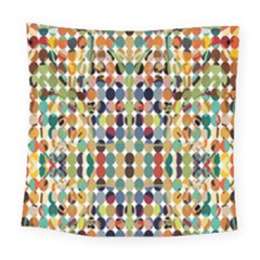 Retro Pattern Abstract Square Tapestry (large)