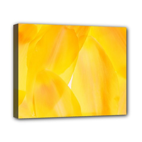 Yellow Pattern Painting Canvas 10  X 8