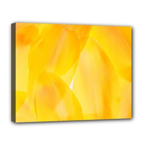 Yellow Pattern Painting Canvas 14  X 11