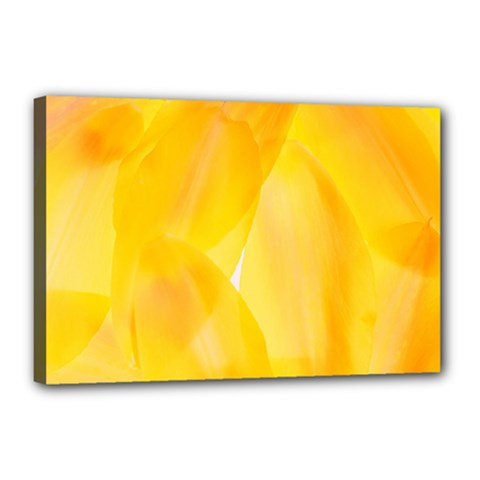 Yellow Pattern Painting Canvas 18  X 12