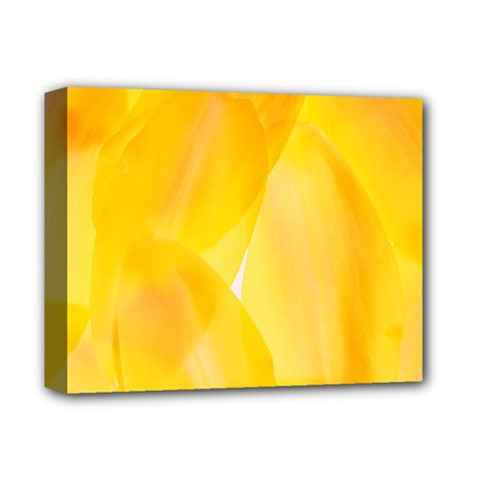Yellow Pattern Painting Deluxe Canvas 14  X 11