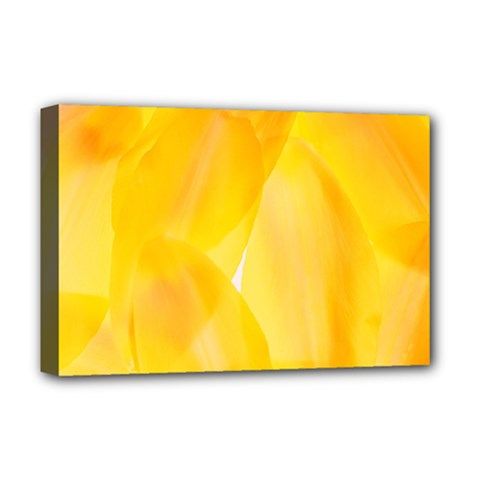 Yellow Pattern Painting Deluxe Canvas 18  X 12