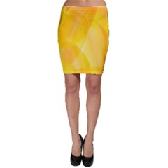 Yellow Pattern Painting Bodycon Skirt