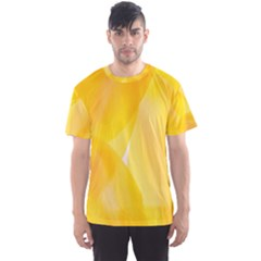 Yellow Pattern Painting Men s Sport Mesh Tee