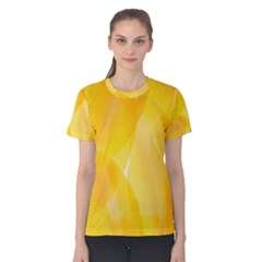 Yellow Pattern Painting Women s Cotton Tee