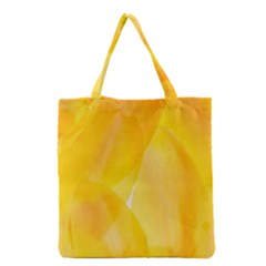 Yellow Pattern Painting Grocery Tote Bag