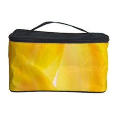 Yellow Pattern Painting Cosmetic Storage Case