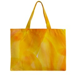 Yellow Pattern Painting Zipper Mini Tote Bag