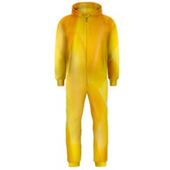 Yellow Pattern Painting Hooded Jumpsuit (men)