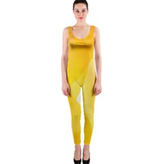 Yellow Pattern Painting Onepiece Catsuit