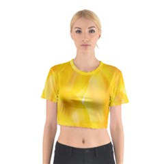 Yellow Pattern Painting Cotton Crop Top