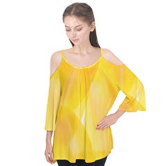 Yellow Pattern Painting Flutter Tees