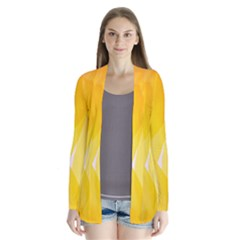 Yellow Pattern Painting Cardigans