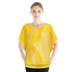 Yellow Pattern Painting Blouse
