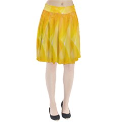 Yellow Pattern Painting Pleated Skirt