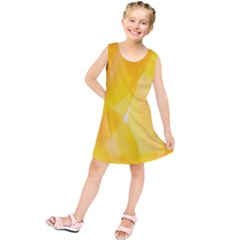 Yellow Pattern Painting Kids  Tunic Dress