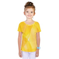 Yellow Pattern Painting Kids  One Piece Tee