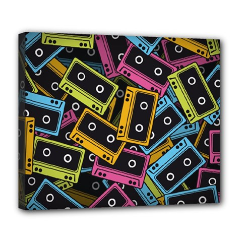 Type Pattern Deluxe Canvas 24  X 20
