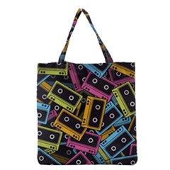 Type Pattern Grocery Tote Bag