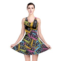 Type Pattern Reversible Skater Dress