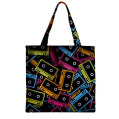 Type Pattern Zipper Grocery Tote Bag
