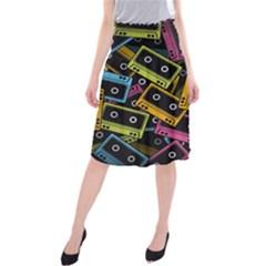 Type Pattern Midi Beach Skirt