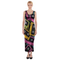 Type Pattern Fitted Maxi Dress