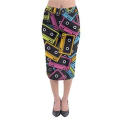 Type Pattern Midi Pencil Skirt