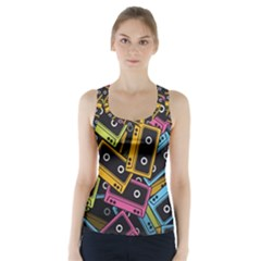 Type Pattern Racer Back Sports Top