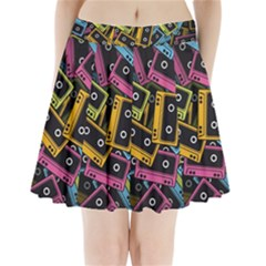 Type Pattern Pleated Mini Skirt