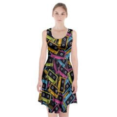 Type Pattern Racerback Midi Dress