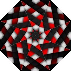 Red Textured Straight Umbrellas