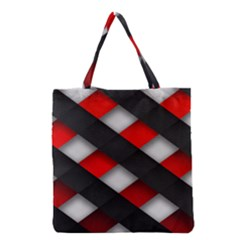 Red Textured Grocery Tote Bag