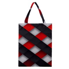 Red Textured Classic Tote Bag