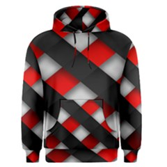 Red Textured Men s Pullover Hoodie