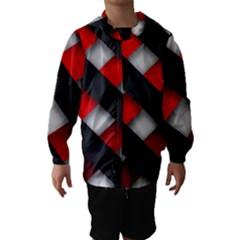 Red Textured Hooded Wind Breaker (kids)