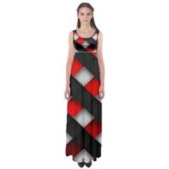 Red Textured Empire Waist Maxi Dress