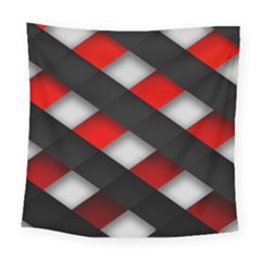 Red Textured Square Tapestry (large)