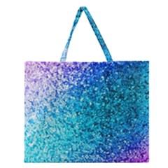 Rainbow sparkles Zipper Large Tote Bag