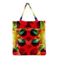 Abstract Digital Design Grocery Tote Bag