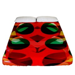 Abstract Digital Design Fitted Sheet (california King Size)