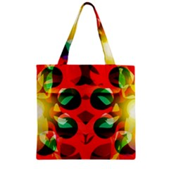 Abstract Digital Design Zipper Grocery Tote Bag