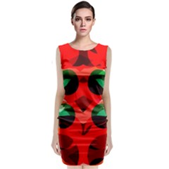 Abstract Digital Design Classic Sleeveless Midi Dress
