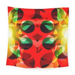 Abstract Digital Design Square Tapestry (large)