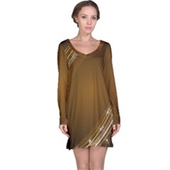 Abstract Background Long Sleeve Nightdress
