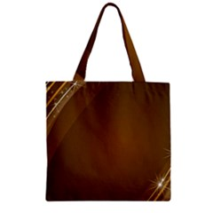 Abstract Background Zipper Grocery Tote Bag