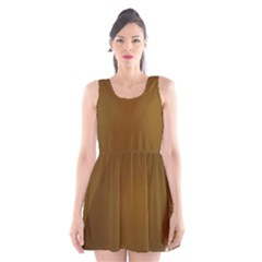 Abstract Background Scoop Neck Skater Dress