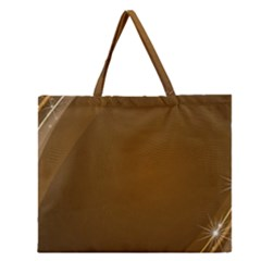 Abstract Background Zipper Large Tote Bag